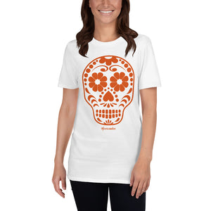 Calavera (Sugar Skull) orange Short-Sleeve Unisex T-Shirt