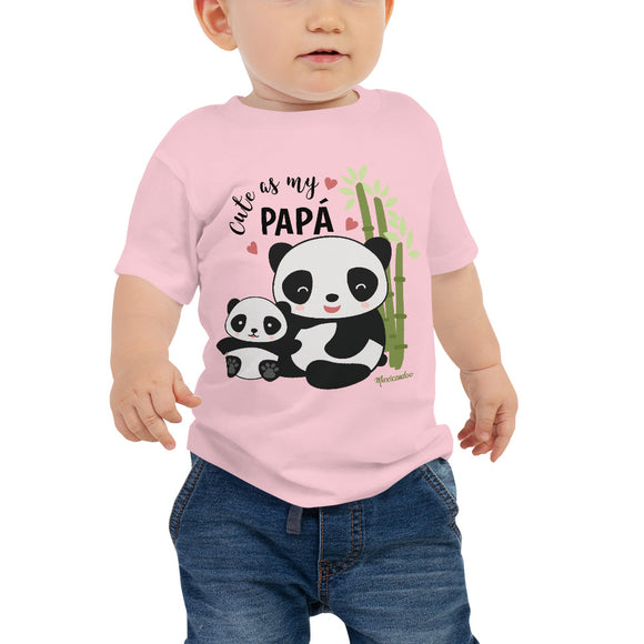 Cute As My Papa! Panda Baby Jersey Short Sleeve Tee