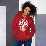 Calavera (Sugar Skull) White Hooded Sweatshirt