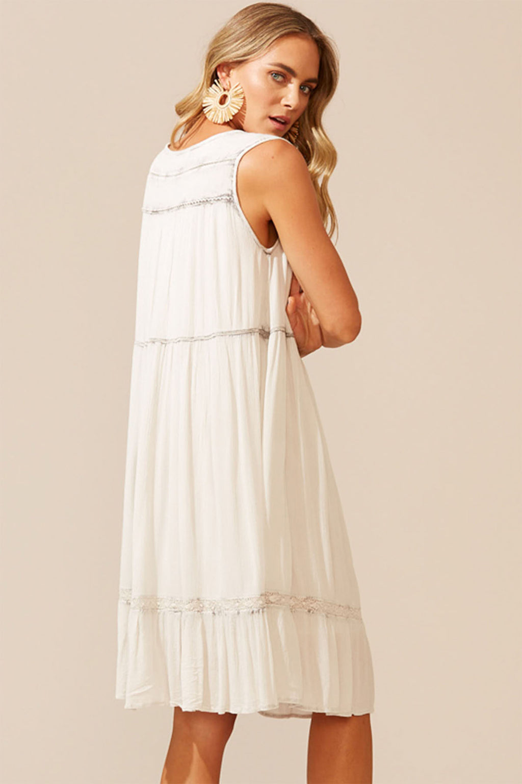 Cies Dress - Salt - The Bohemian Corner