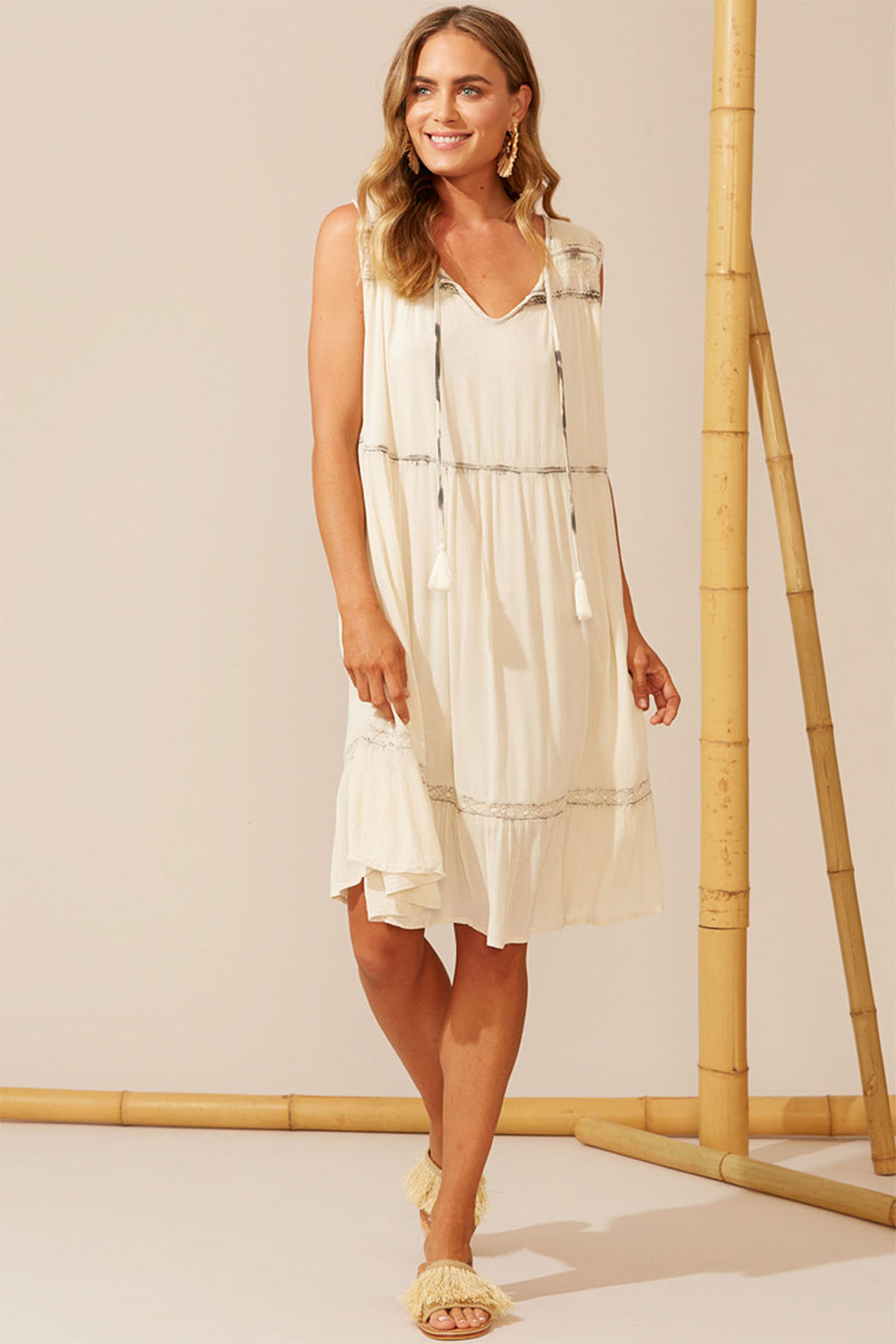 Cies Dress - Sand - The Bohemian Corner