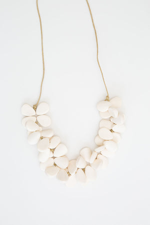 Mangrove Necklace - White - The Bohemian Corner