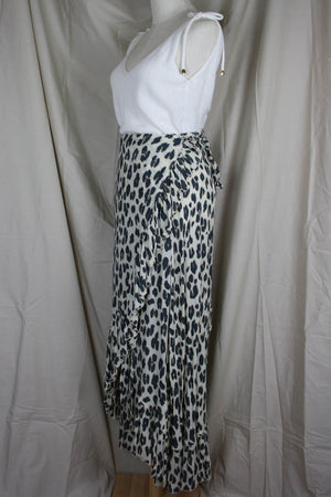 Tanah Wrap Skirt - Leopard - The Bohemian Corner