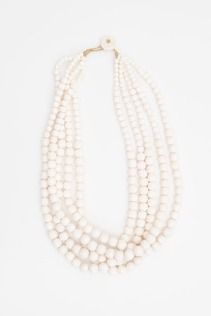 Borneo Necklace - White - The Bohemian Corner