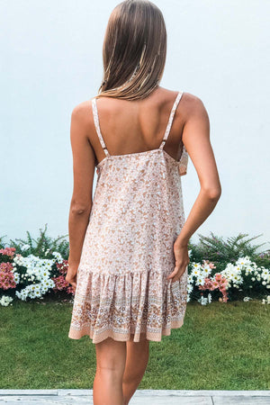 Free To Be Me Mini Dress - Pale Pink - The Bohemian Corner