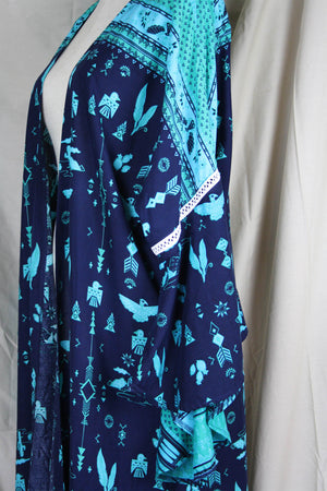 Dream Weaver Kimono - Arizona Teal - The Bohemian Corner