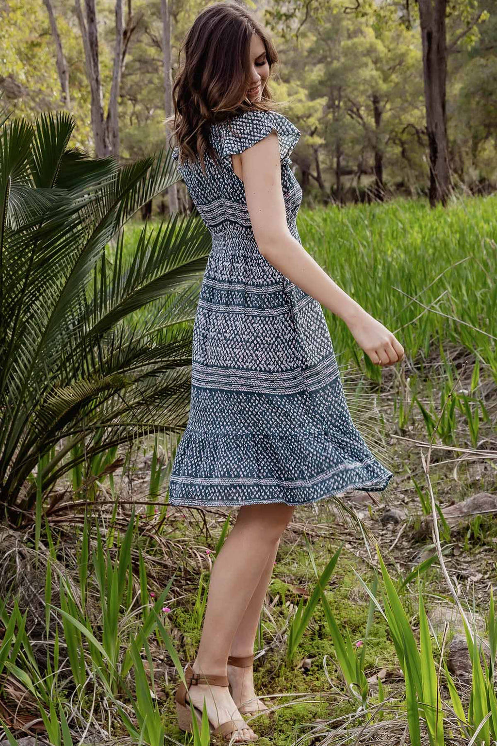 Aria Mini Dress - Eden - The Bohemian Corner