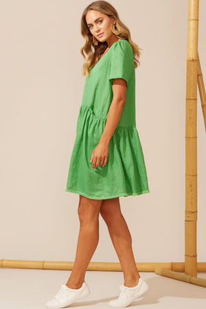 Martinique Dress - Jade - The Bohemian Corner