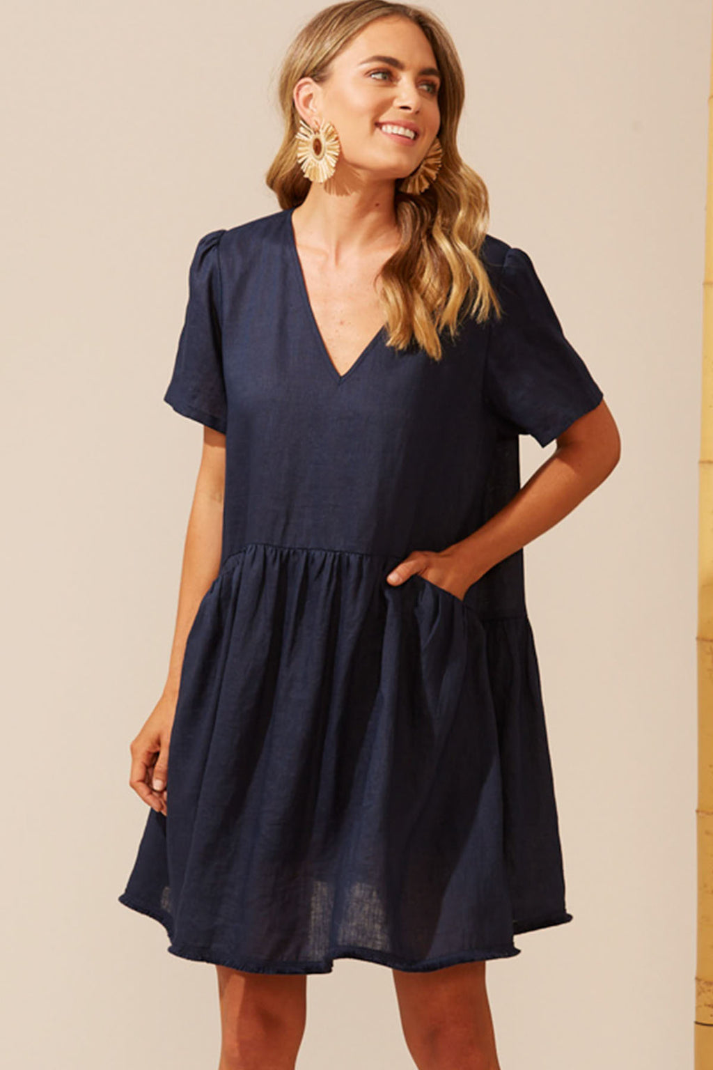 Martinique Dress - Navy - The Bohemian Corner