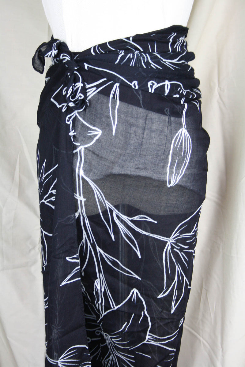 Algarve Sarong - Ink Lily - The Bohemian Corner