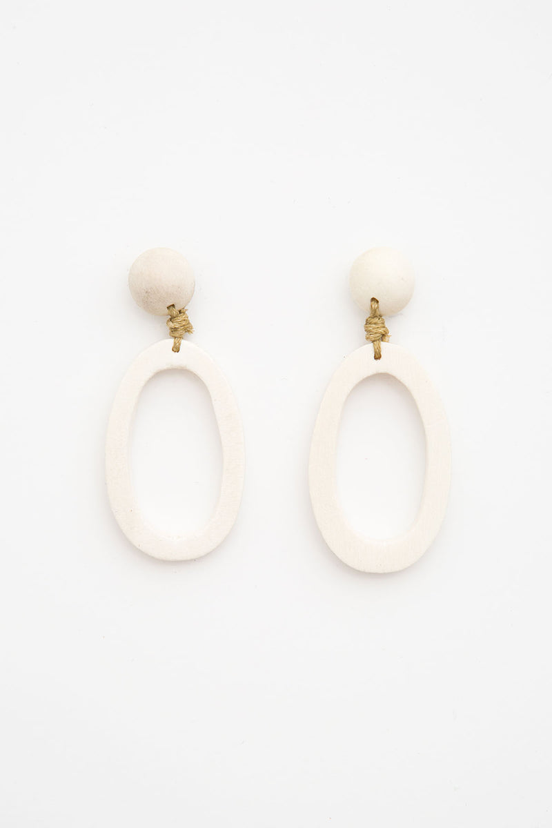 Samana Earrings - White - The Bohemian Corner