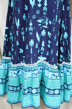 Willow Strappy Dress - Arizona Teal - The Bohemian Corner