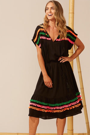 Costa Brava Maxi Dress - Black - The Bohemian Corner