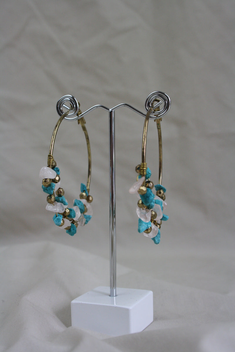 Kruger Stone Earring - Turquoise - The Bohemian Corner