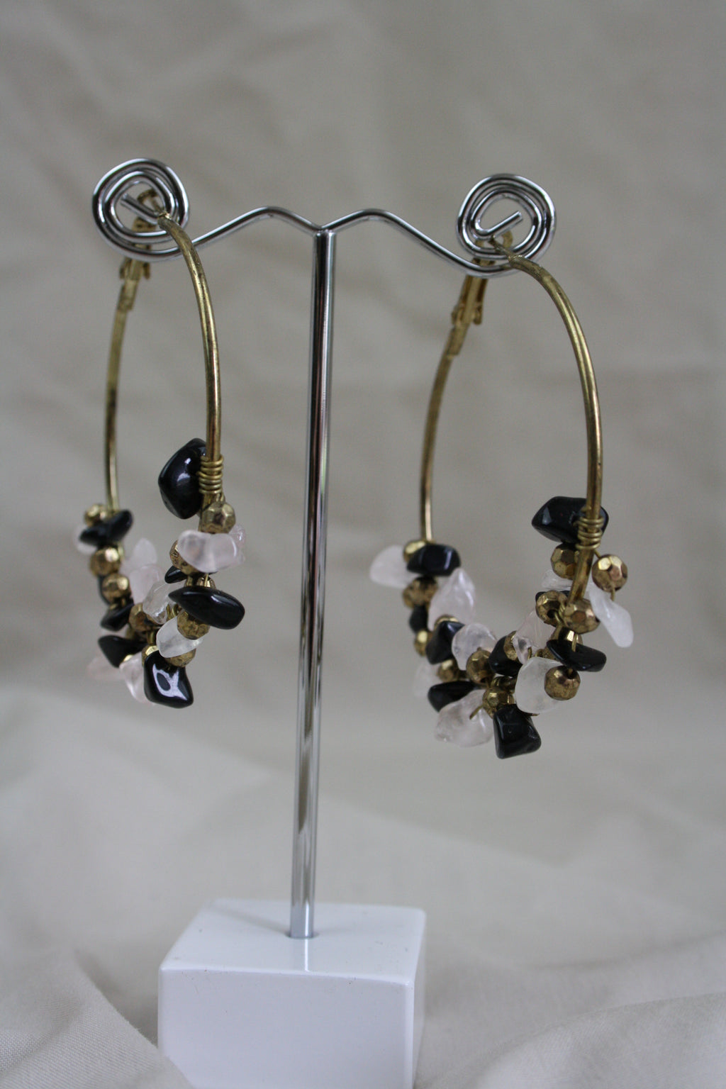 Kruger Stone Earring - Black - The Bohemian Corner