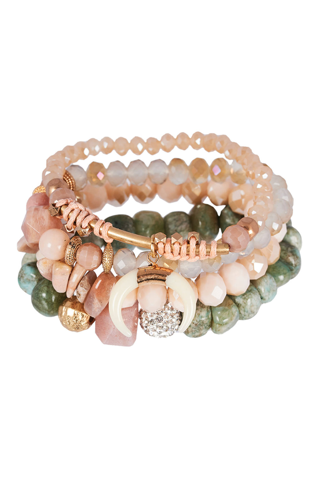 Katavi Bracelet Set - Blush - The Bohemian Corner