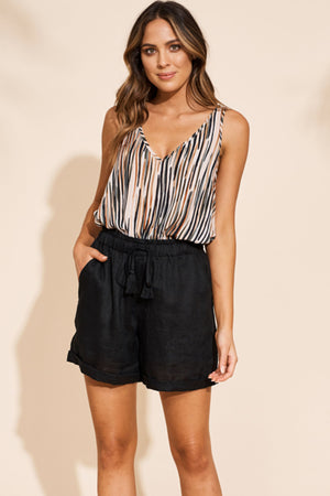 Masai Shorts - Black - The Bohemian Corner