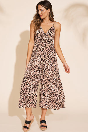 Savannah Jumpsuit - Leopard - The Bohemian Corner