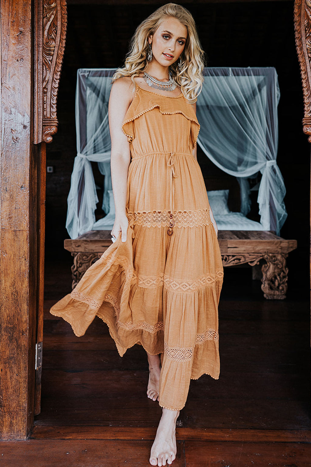 Sahara Maxi Dress - Marigold - The Bohemian Corner