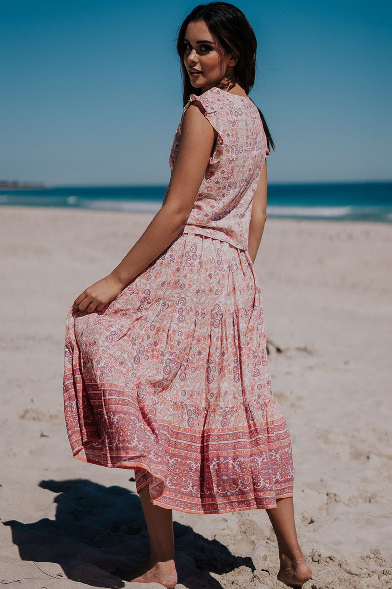 Daizy Skirt - Wild Rose - The Bohemian Corner