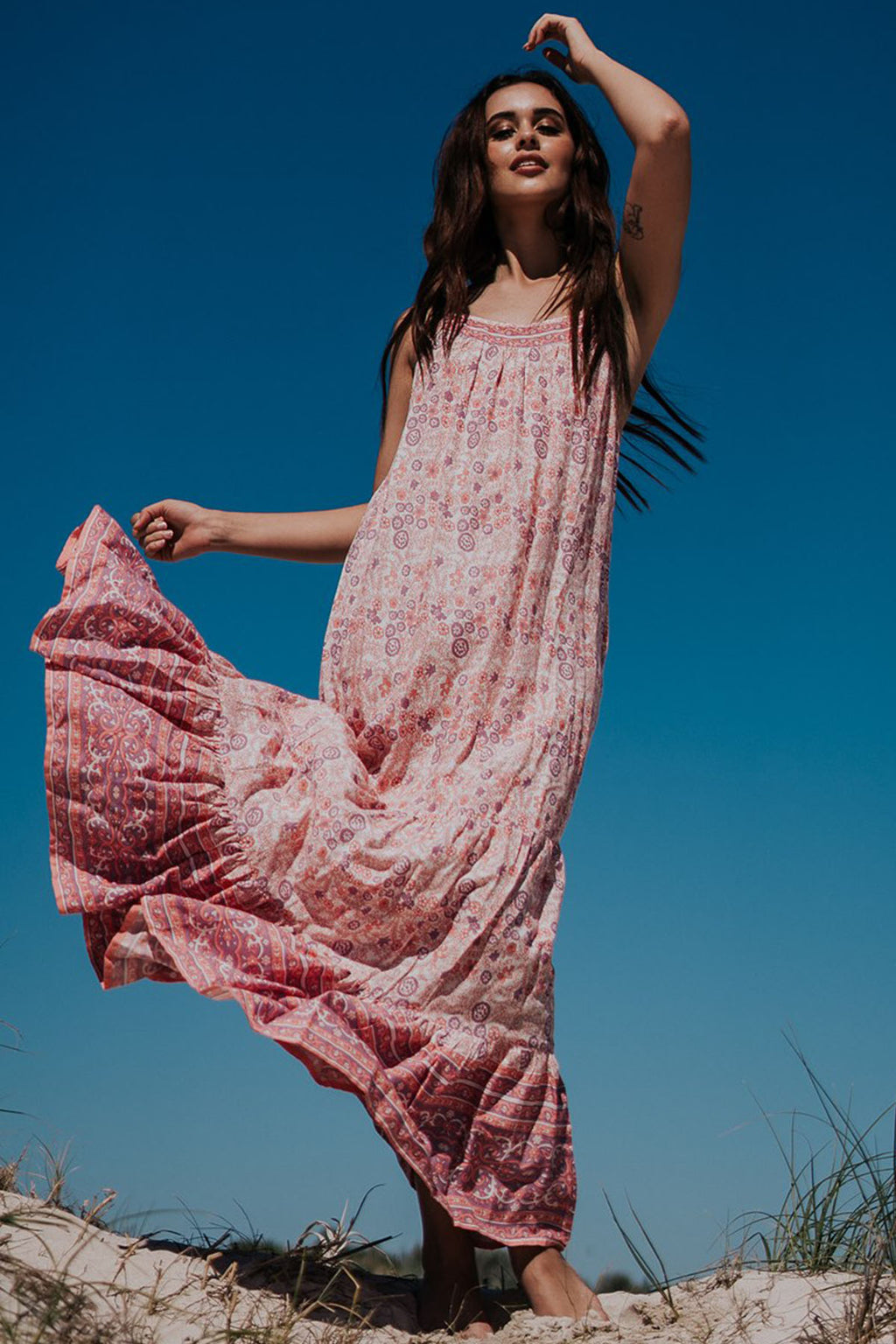 Isla Maxi Dress - Wild Rose - The Bohemian Corner