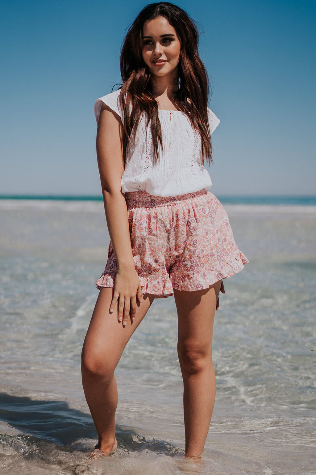 Dhalia Shorts - Wild Rose - The Bohemian Corner