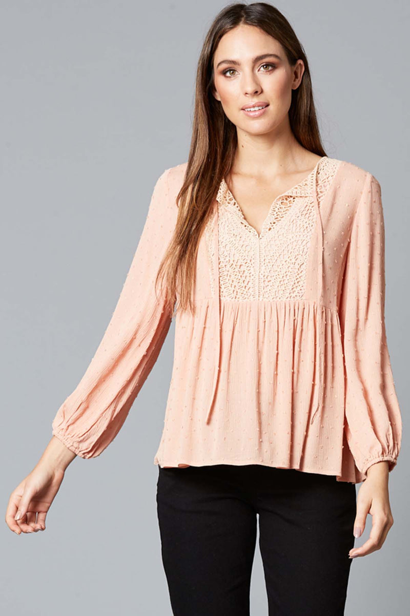Lover Blouse - Blush - The Bohemian Corner