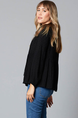 Lover Blouse - Black - The Bohemian Corner