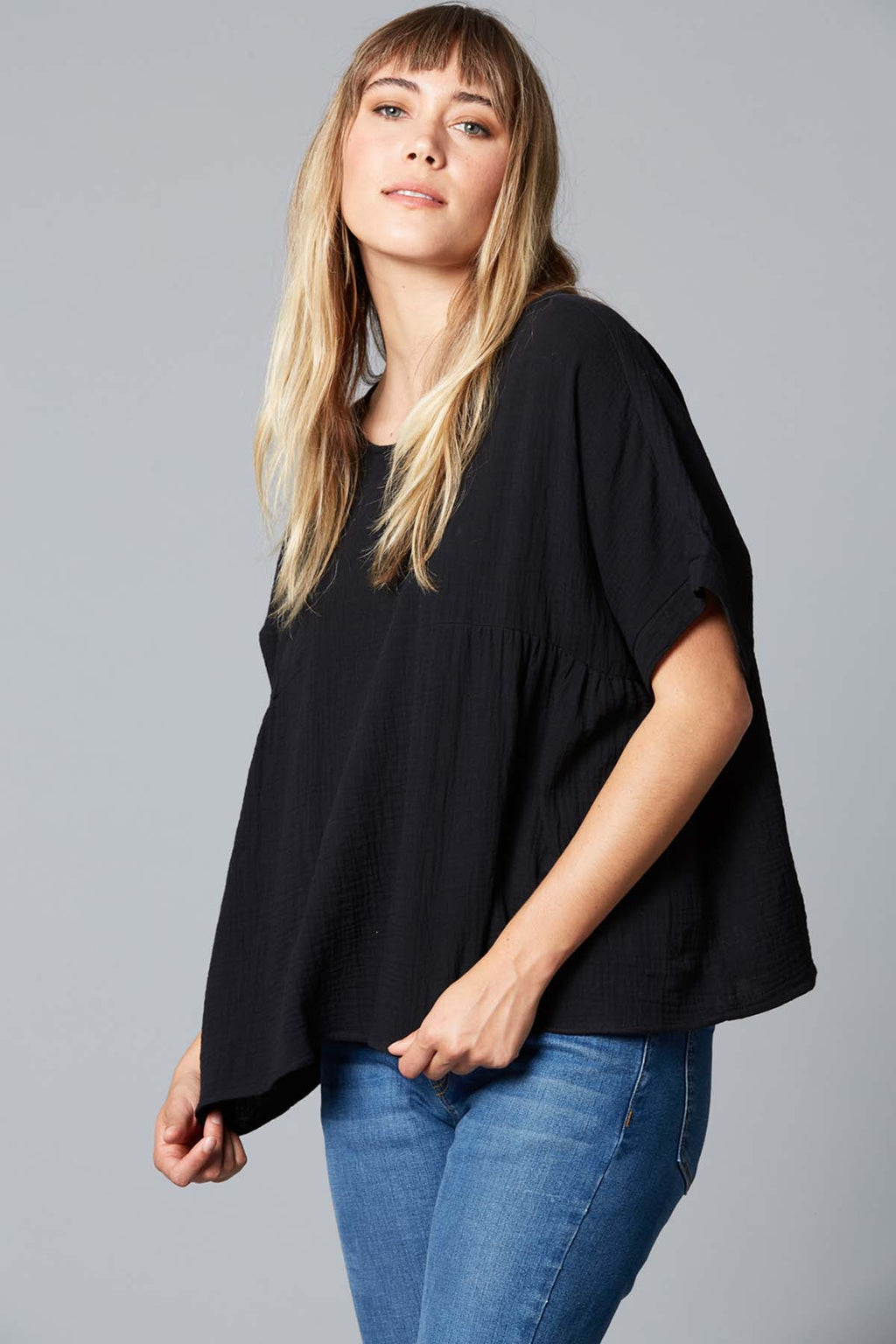 Weekender Top - Black - The Bohemian Corner