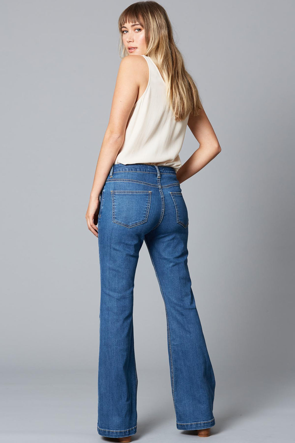 Good Vibe Jean - Denim Blue - The Bohemian Corner