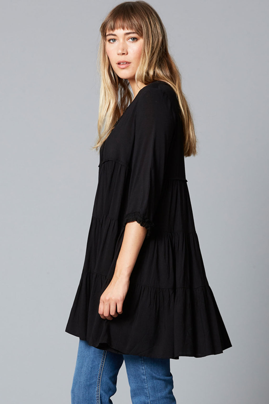 Dawn Dress - Onyx - The Bohemian Corner