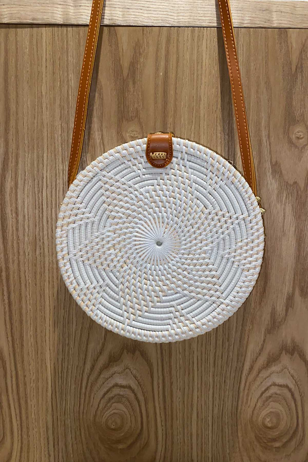 Round Flower Bag - White - The Bohemian Corner