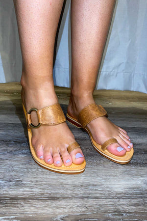 Toe Ring Sandals - Rustic Tan - The Bohemian Corner