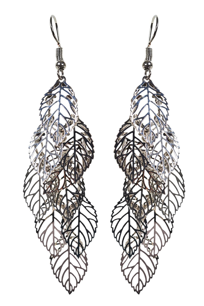 Zuma Leaf Earring - Silver - The Bohemian Corner