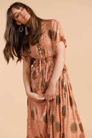 Moonbeam Dress - Cactus Flower - The Bohemian Corner