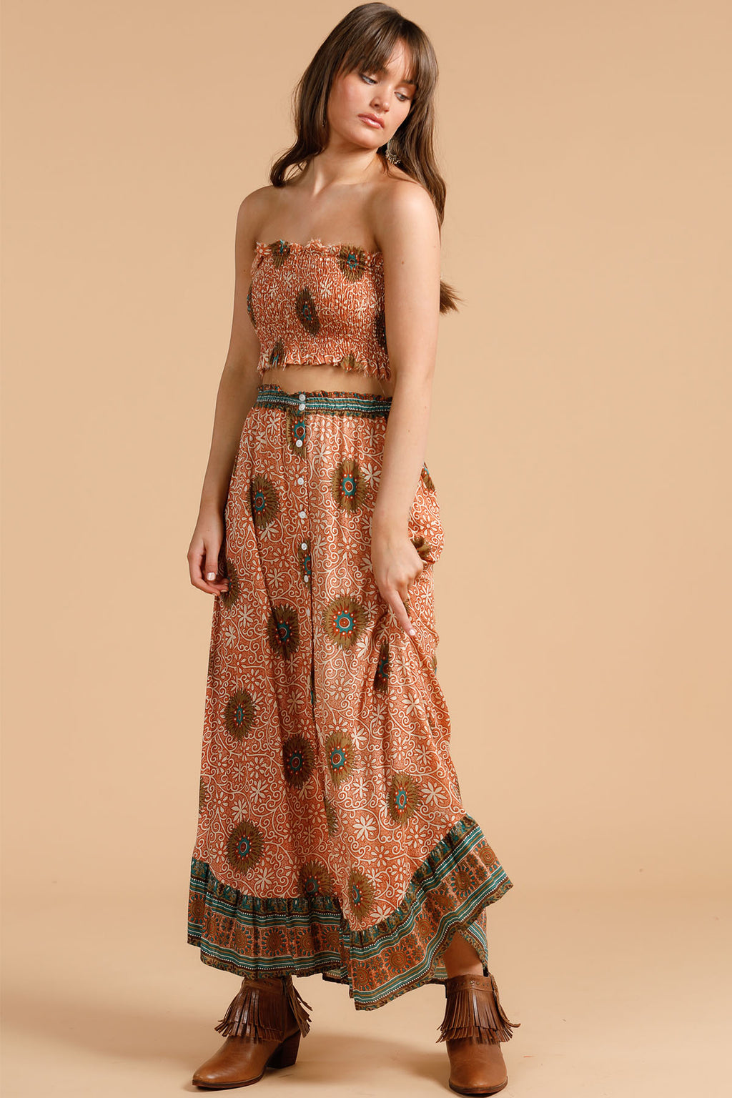 Road Trip Skirt - Cactus Flower - The Bohemian Corner