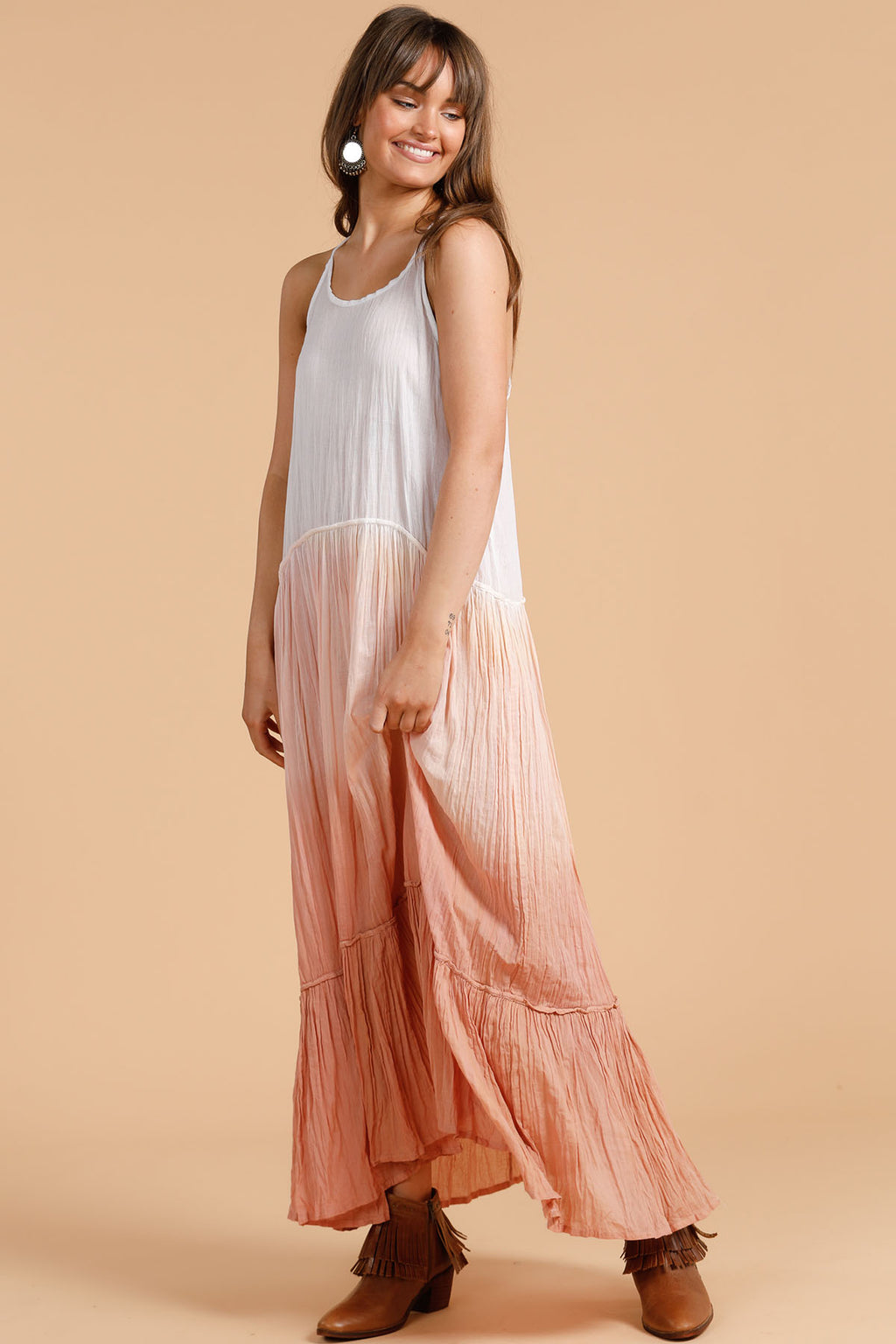 Isobel Maxi Dress - Clay Ombre - The Bohemian Corner
