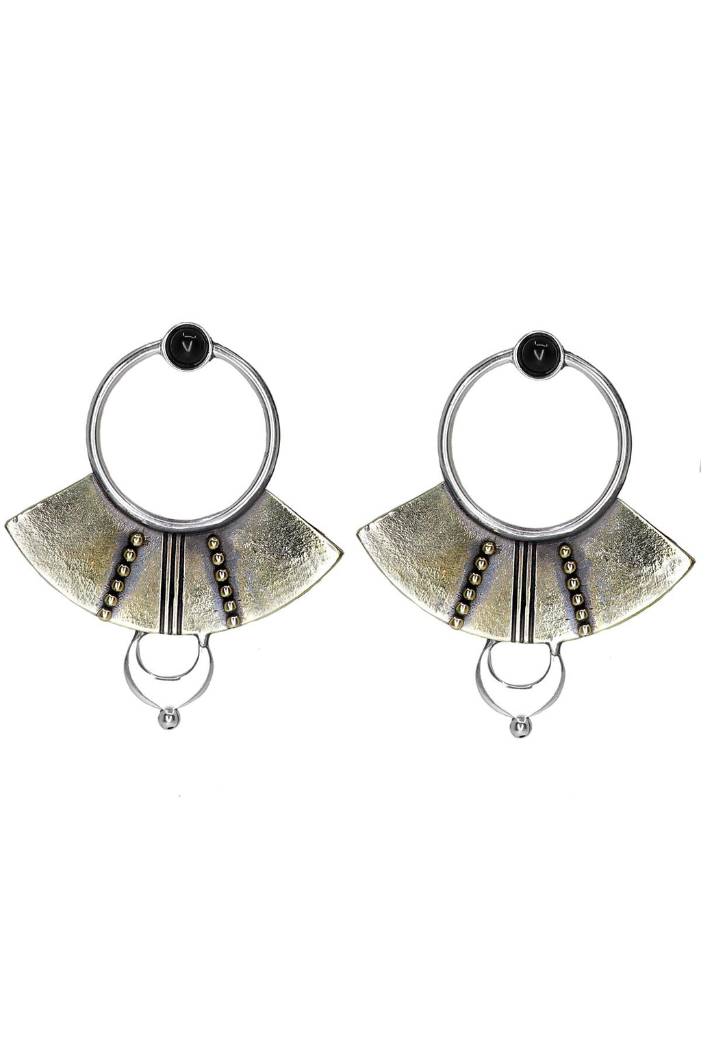 Orbit Earrings - Onyx - The Bohemian Corner