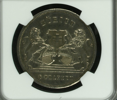 Swiss 1859 Shooting Medal Zurich William Tell R-1723a NGC Mintage-750