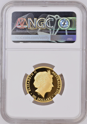 Australia 2000 Gold Colorized $100 Sydney Summer Olympics Torch NGC PF70