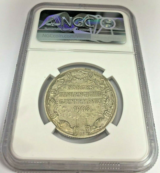 Norway 1906 Silver Coin 2 Kroner Norwegian Independence NGC