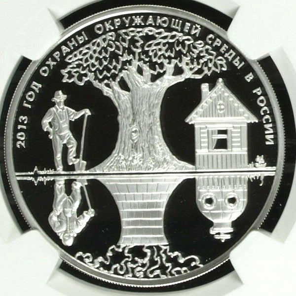 2013 Russia Silver 3 Roubles Environment in Russia Year of Protection NGC PF69