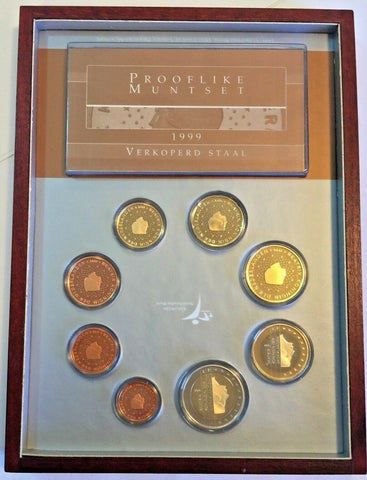 1999 Netherlands 8 Euro Coins Set Nederland Special Edition Holland