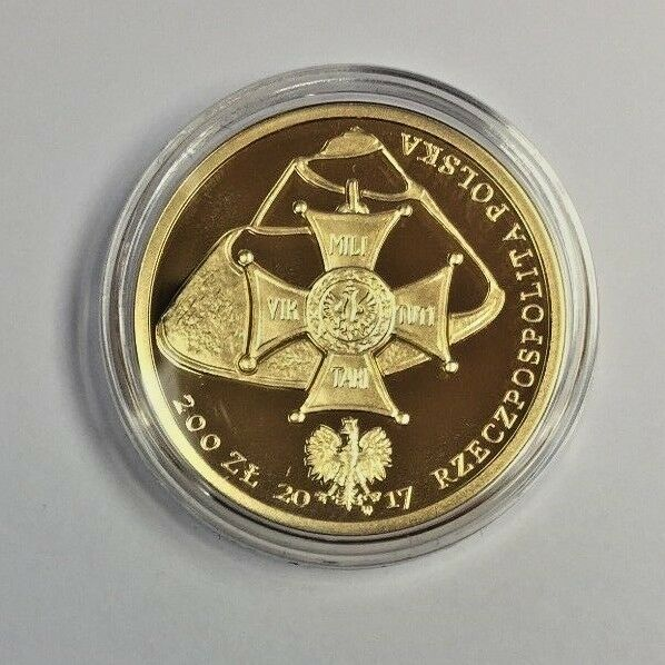 Rare 2017 Poland Gold Proof Coin 200 Zloty Tadeusz Kosciuszko Low Mintage