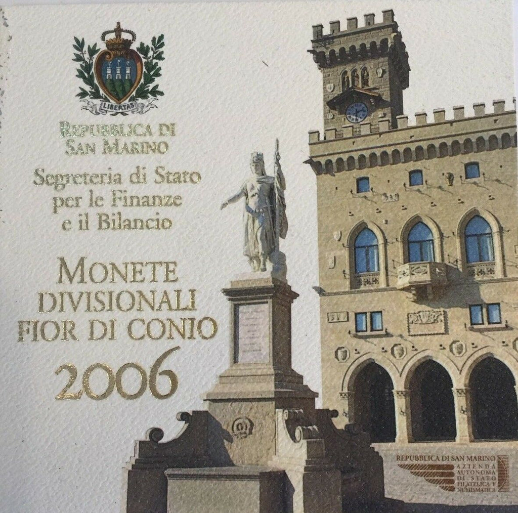 San Marino 2006 Official Euro Proof Set 9 Coins Silver 5€ perfect condition