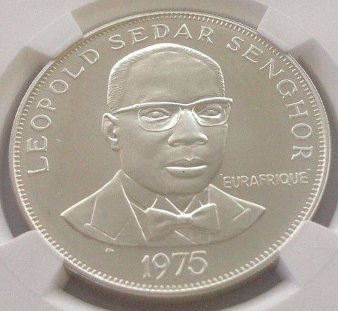 1975 Senegal Silver 50 Francs 25th Aniversary of Eurafrique Program NGC MS69