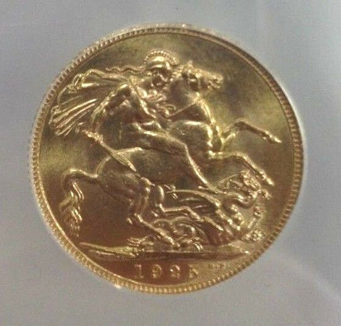 Great Britain 1925 Gold Coin Sovereign George V ANACS MS64