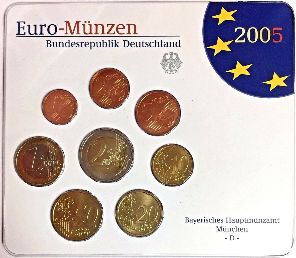 2005 D Germany Euro Official Coin Set Special Edition München Mint Deutschland