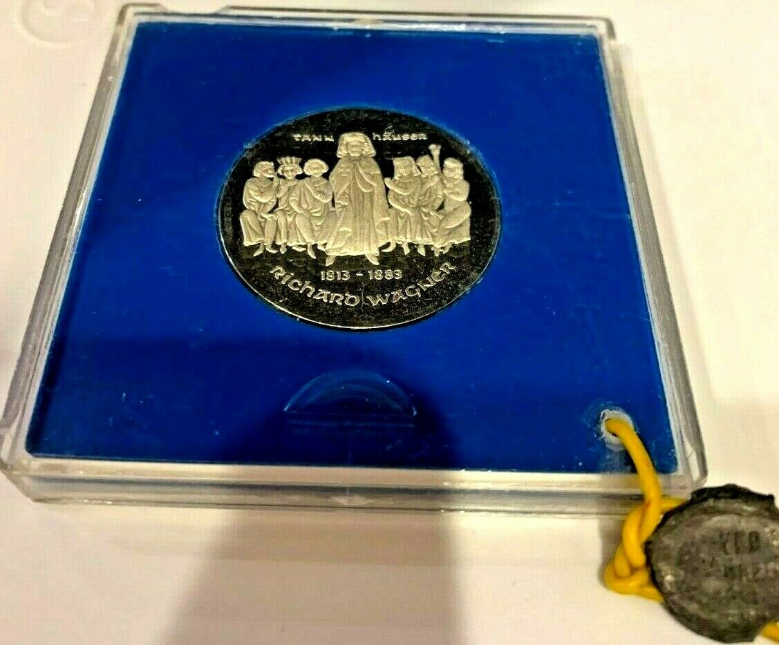 Germany 1983 Silver Proof 10 Mark Richard Wagner 100th Anniversary Mintage-5,500