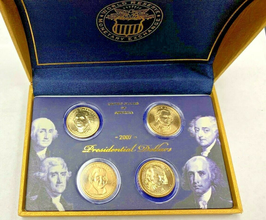 US 2007 Set 4 Coins $1 - 1st 2nd 3rd 4th President Special Edition